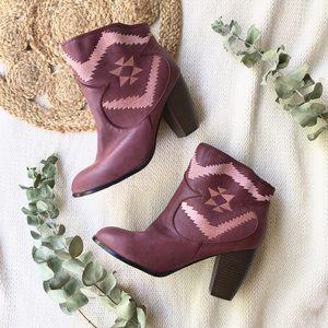 New Michael Antonio Purple Embroidered Boots 11